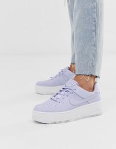 Сиреневые кроссовки Nike Air Force 1 Sage - Фиолетовый