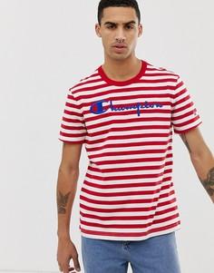 Красная футболка с большим логотипом Champion - Красный
