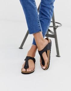 Черные сандалии с перемычкой между пальцами Birkenstock Gizeh - Черный