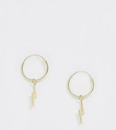 Эксклюзивные серьги-кольца из позолоченного серебра Kingsley Ryan - Золотой