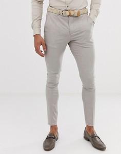 Светло-бежевые брюки скинни Selected Homme - Бежевый