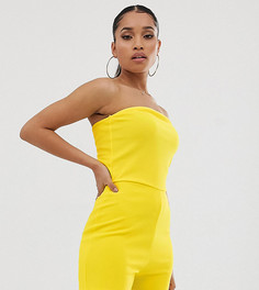 Желтый ромпер-бандо Missguided Petite - Желтый