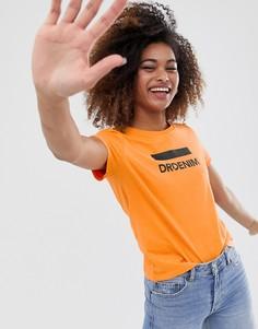 Футболка с логотипом Dr Denim - Оранжевый