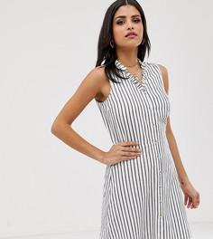 Платье мини в полоску с пуговицами спереди Vero Moda Tall - Мульти
