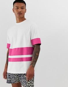 Oversize-футболка в стиле колор блок Another Influence - Розовый