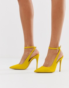 Желтые кожаные туфли с острым носком и каблуком-шпилькой Aldo - Желтый