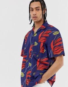 Темно-синяя рубашка Weekday - Skyway Hawaiian - Синий