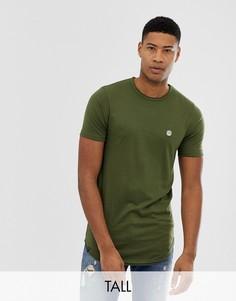 Длинная футболка с необработанным краем Le Breve Tall - Зеленый