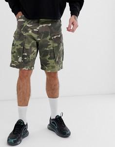 Камуфляжные шорты-карго G-Star Rovic - Зеленый