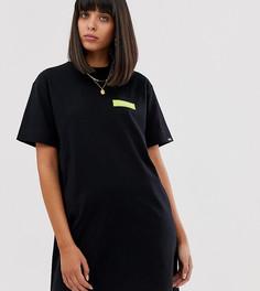 Черное длинное платье-футболка Napapijri - The Tribe Sait - Черный