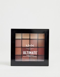 Палитра теней для век NYX Professional Ultimate - Warm Neutrals - Мульти