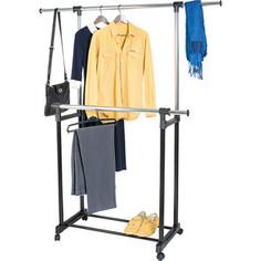Стойка для одежды Art moon TORONTO Двойная мобильная с боковыми выдвижными штангами