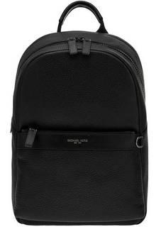 Рюкзак Черный кожаный рюкзак с двумя отделами Greyson Michael Kors