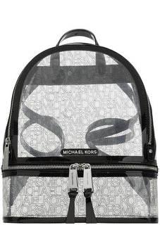 Рюкзак Прозрачный рюкзак с логотипом бренда Rhea Zip Michael Kors
