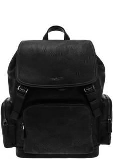 Рюкзак Кожаный рюкзак с откидным клапаном Henry Michael Kors