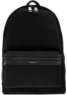 Рюкзак Черный текстильный рюкзак с нашивками Kent Michael Kors