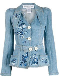 Christian Dior Vintage джинсовая куртка с поясом