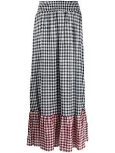 Liu Jo юбка макси в клетку гингем