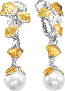 Серебряные серьги Серьги Серебро России S-1361003RZ10100-54353