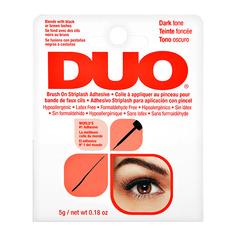 Клей для ресниц DUO черный с кистью с витаминами 5 г