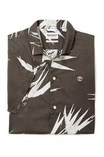 Черная рубашка с принтом Timberland