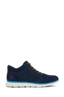 Синие ботинки на шнуровке Timberland