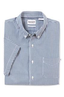 Рубашка в бело-голубую клетку Timberland