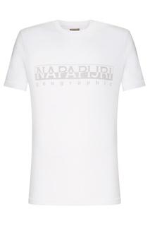 Белая футболка с логотипом Napapijri
