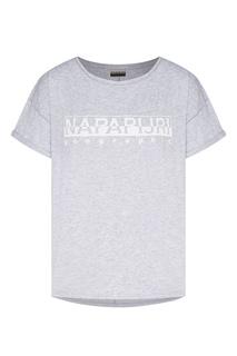 Серая футболка с логотипом Napapijri