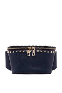 Синяя поясная сумка Valentino Garavani Rockstud