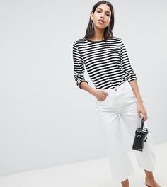 Белые укороченные джинсы прямого кроя River Island - Белый