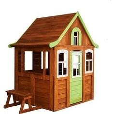 Детский домик Красная звезда Можга Цветочный цвет зеленый Р920-3