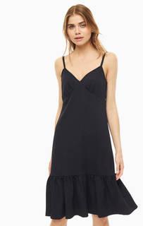 Платье Однотонное платье-сарафан с воланом Michael Kors
