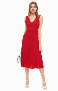 Платье Красное платье из вискозы с глубокми вырезом Michael Kors