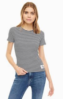 Футболка Хлопковая футболка в полоску Calvin Klein