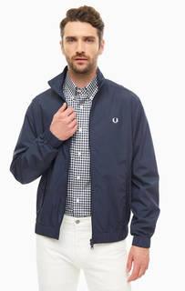 Куртка Легкая куртка из хлопка синего цвета Fred Perry