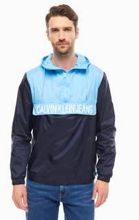 Ветровка-анорак с логотитипом бренда Calvin Klein