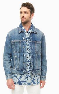 Куртка из денима с потертостями Calvin Klein