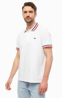 Футболка Поло Хлопковая футболка поло с короткими рукавами Lacoste