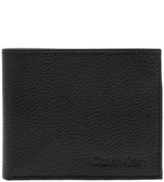 Портмоне Черное портмоне из зерненой кожи Calvin Klein