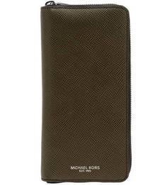 Кошелек Кожаный кошелек цвета хаки Harrison Michael Kors
