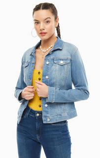 Куртка Короткая джинсовая куртка синего цвета Mavi