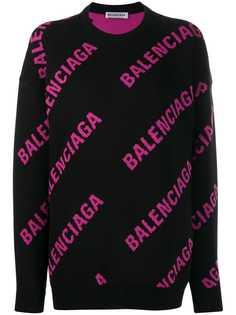 Balenciaga толстовка с круглым вырезом и логотипом
