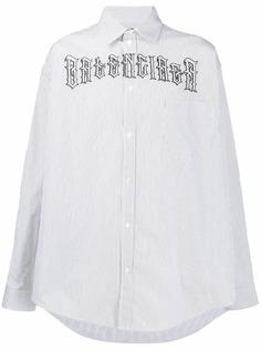Balenciaga рубашка с принтом Tattoo