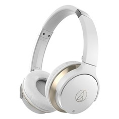 Наушники AUDIO-TECHNICA ATH-AR3BT, 3.5 мм/Bluetooth, накладные, белый