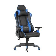 Кресло игровое БЮРОКРАТ CH-778, на колесиках, искусственная кожа [ch-778/bl+blue]