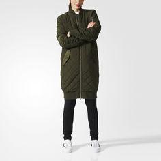 Утепленная куртка-бомбер Long adidas Originals