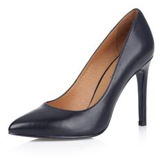 Черные кожаные туфли-лодочки Respect