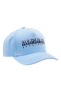 Голубая бейсболка с логотипом Napapijri