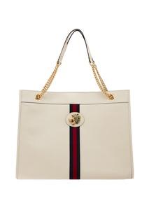Белая сумка Rajah Gucci